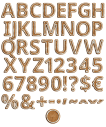 Christmas Gingerbread Font Alphabet
