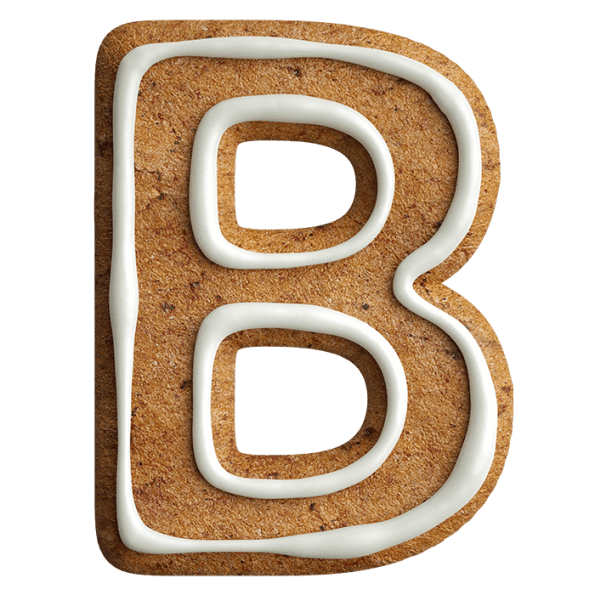 Christmas Gingerbread Font Letter B