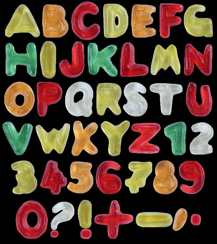 Sweet Haribo Font Alphabet