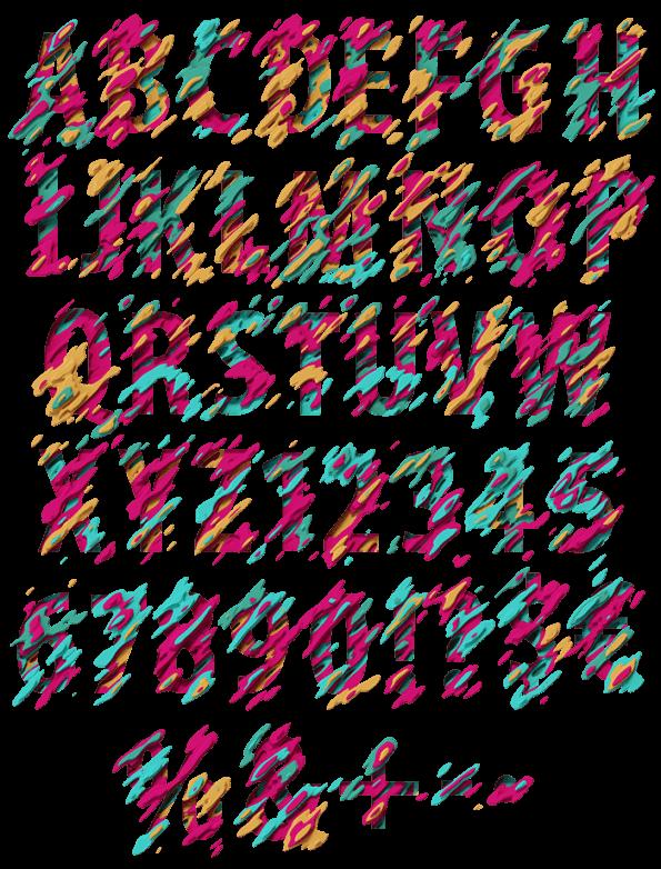 Fancy Design Font Alphabet