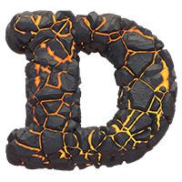 Lava Font Letter D
