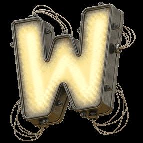 Light 3D Board Handmade Font