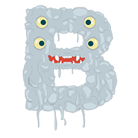 Monster Font Letter B