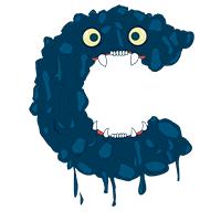 Monster Font Letter C