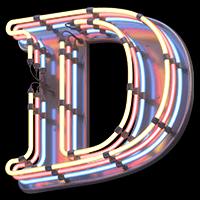Buy Multi Neon Font To Give Your Design Retro 3D Font Charm