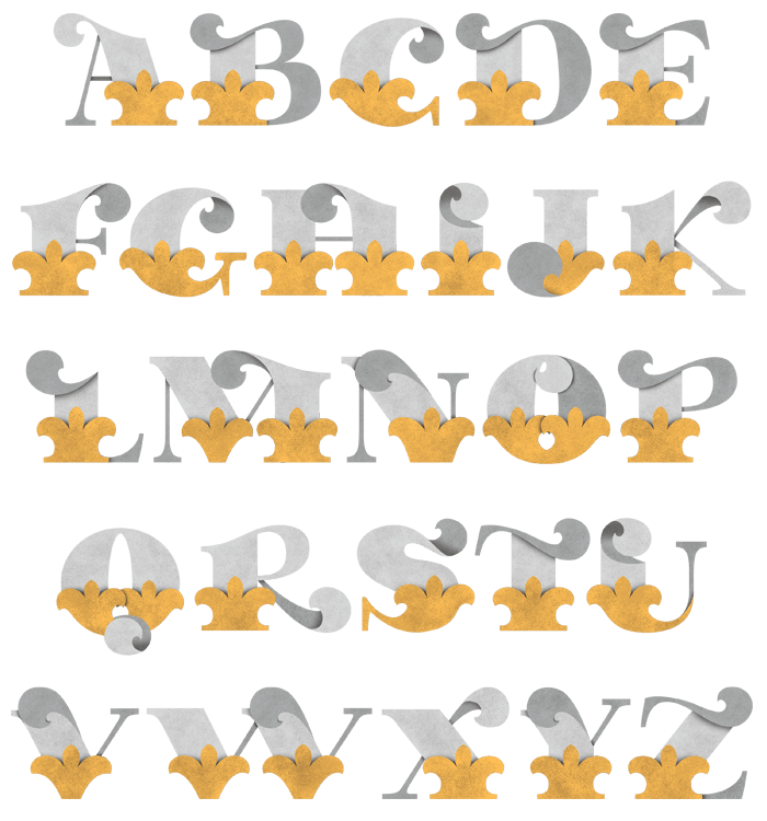 Paper Collage Font