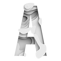 Origami Paper Waves Font. Letter A