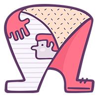Unique Human Font Letter A