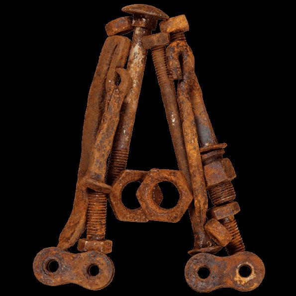Rusty Metal Bolts Font