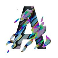 Spectral Glitch Pixel Font Letter A