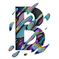 Spectral Font Letter B