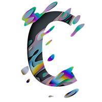 Spectral Font Letter C