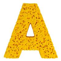 Yellow Sponge Font. Letter A