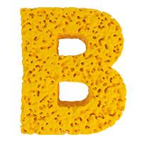 Yellow Sponge Font. Letter B