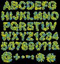 3D Colorful Stars Font