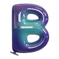 Vibrant Blue Balloon Font