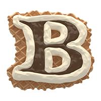 Waffel Font Letter B