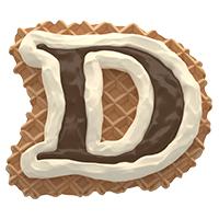 Waffel Font Letter D