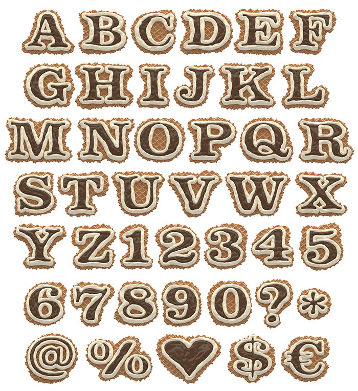 Waffel Font Alphabet