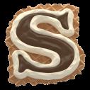 Waffel Cream Tasty Font Letter S