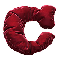 Red velvet Font Letter C