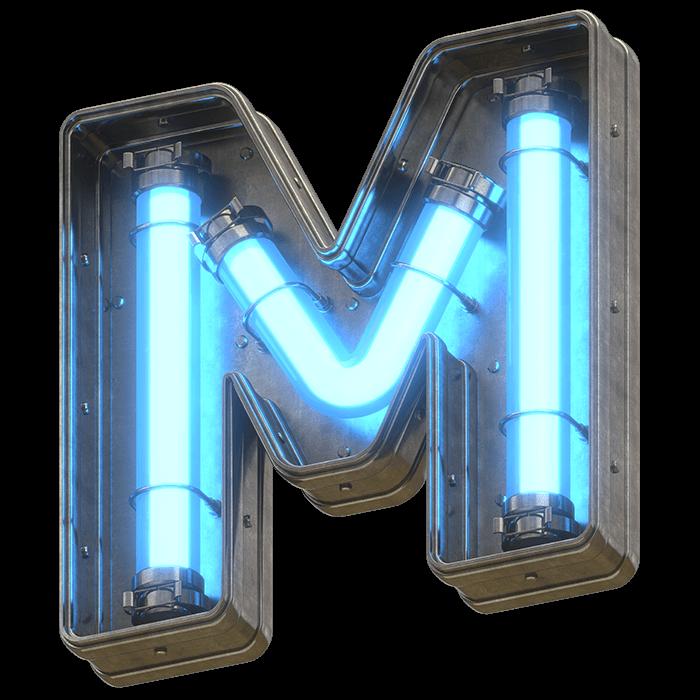 Blue Light Font