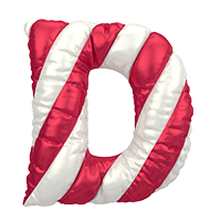 Christmas Puffy Balloon Font