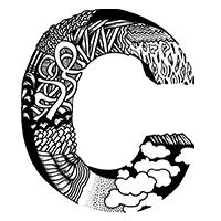 Black White Graphic Font