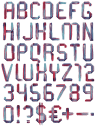 Colorful Artistic Font