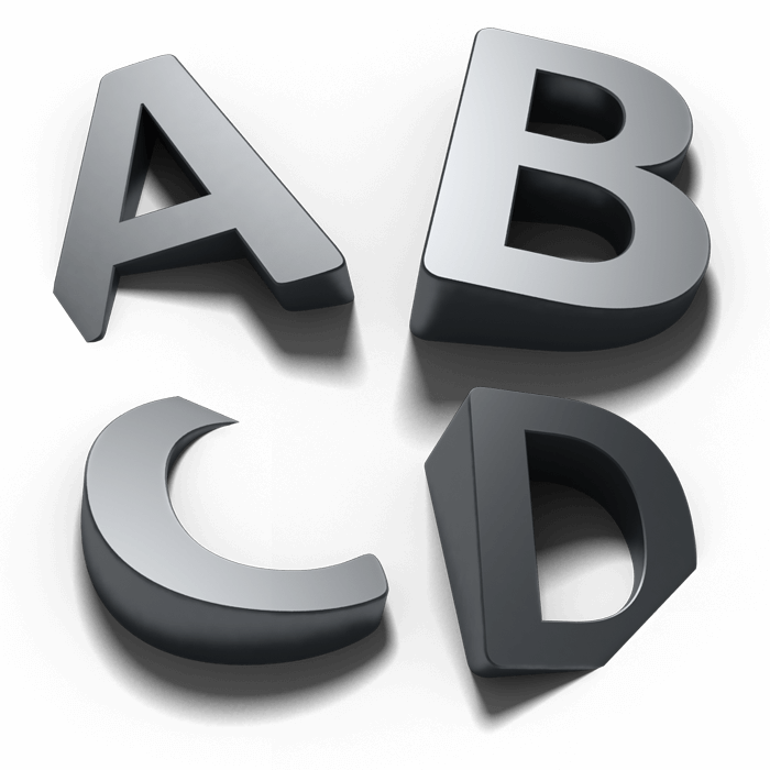Shadow 3D Animated Font
