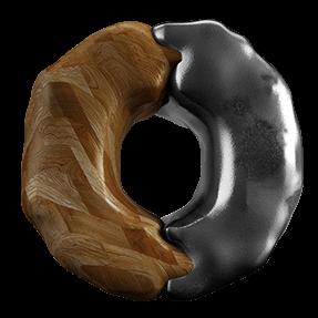 3D Black Brown Font