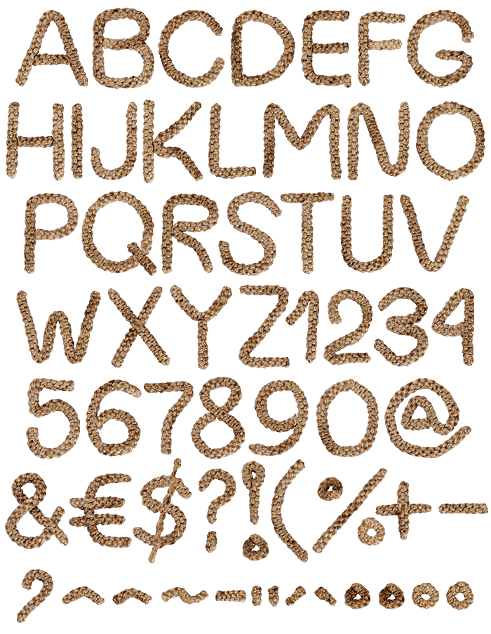 Handcrafted Rope Typeface