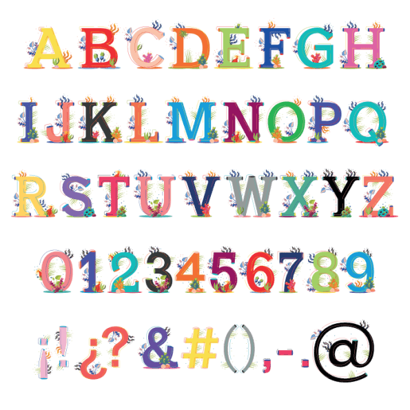 Colorful Ariel Sea Typeface