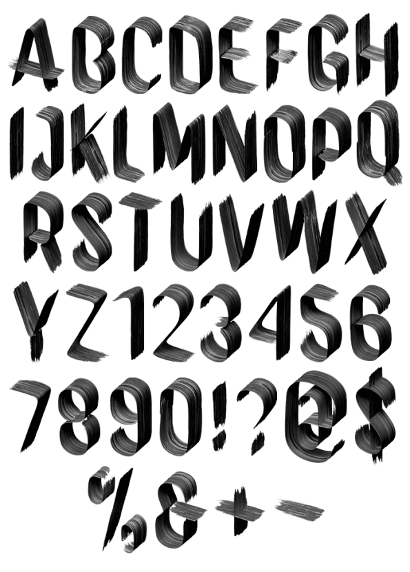 Graceful Black And White Font