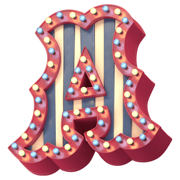 3D Bright Carnival Typeface