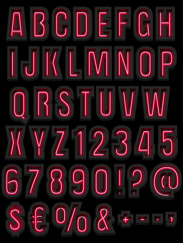Dark Red Light Font