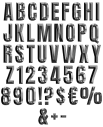 Stylish Metal Typeface