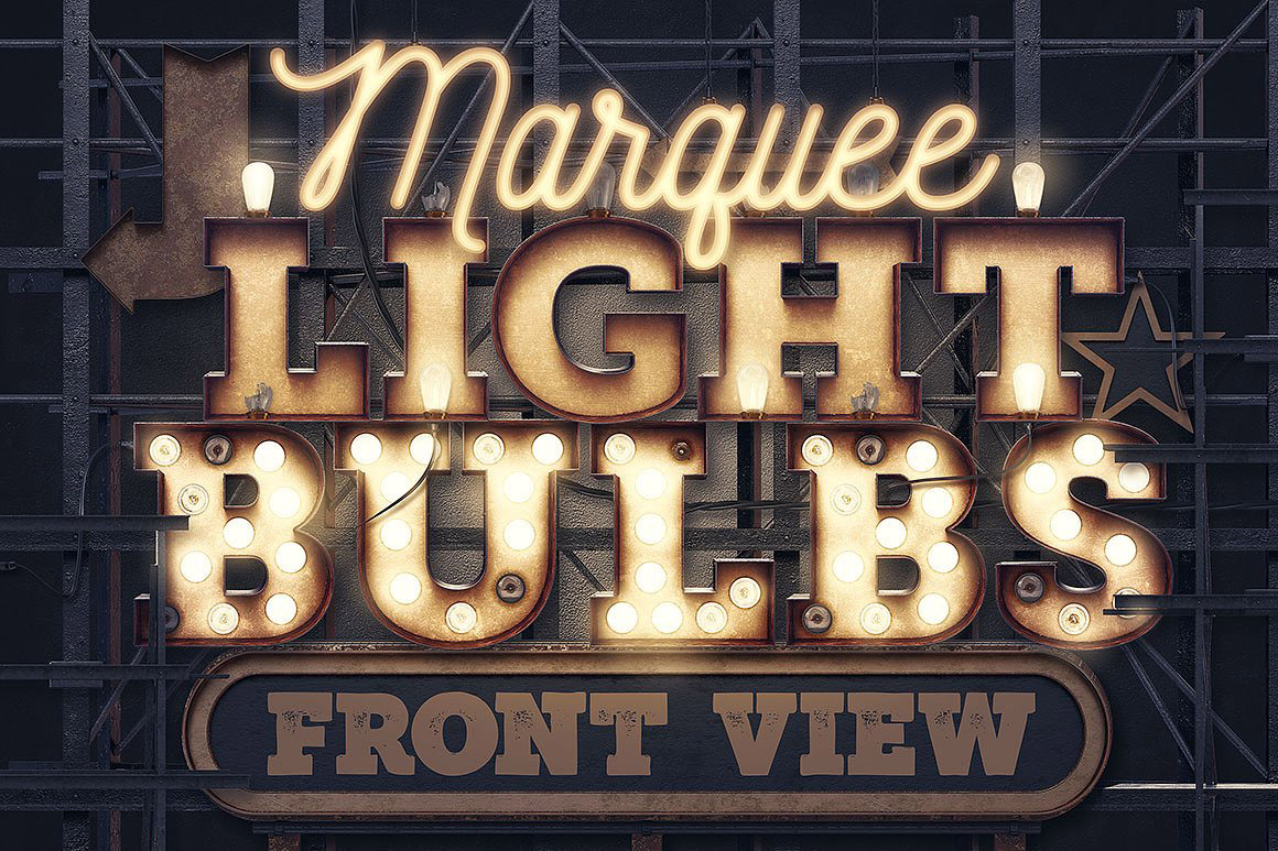 Buy Rusty Light Bulbs Font And Make A Big Retro Entrance