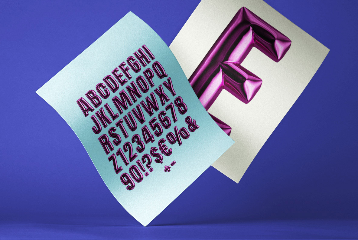 Happy Birthday SVG Font Alphabet