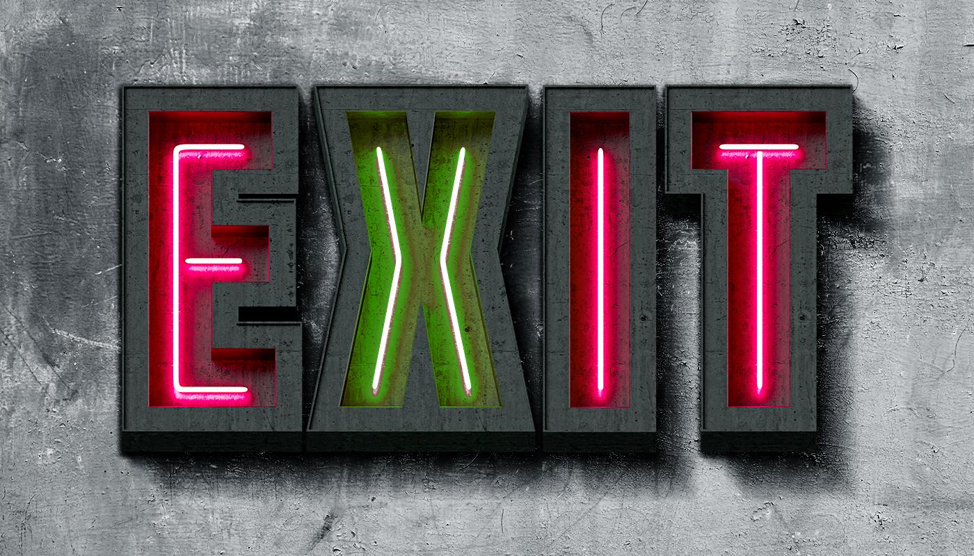 Exit Font Preview