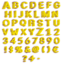 Yellow Magnetic Typeface