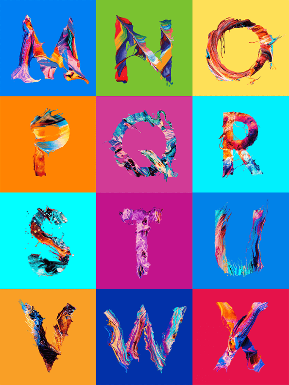 Abstract Colorful Typeface
