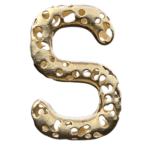 Damaged Golden Typeface