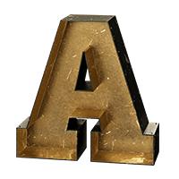 Vintage Metal Font
