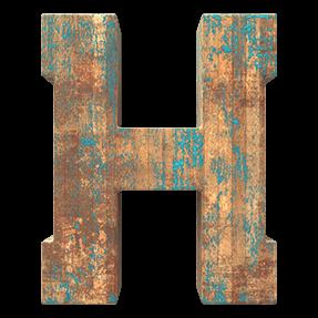 Wooden Grunge Typeface