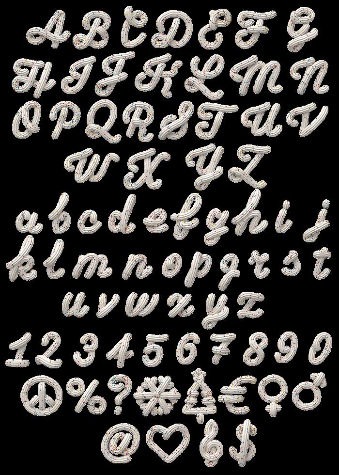 Cream White Typeface
