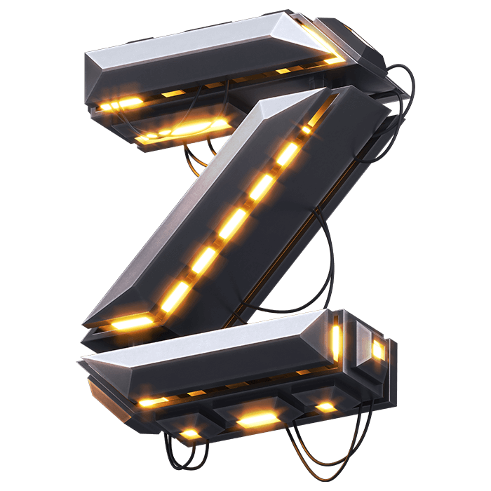 Glowing Futuristic Typeface