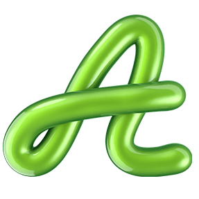 Shiny Green Typeface