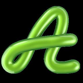 Shiny Green Typeface