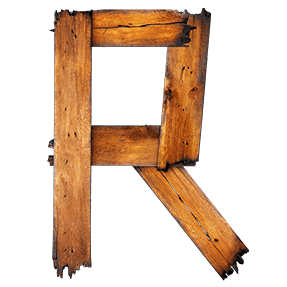 Edgy Wooden Typeface